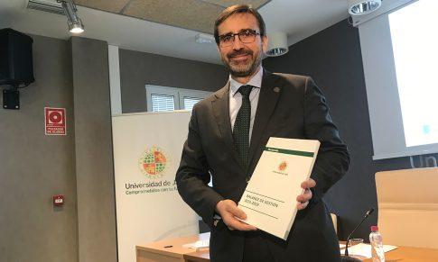 Juan Gómez, rector de la UJA, hace balance de sus cuatro años de mandato